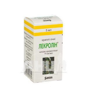 Лекролін 4% краплі очні 40 мг/мл флакон-крапельниця 5 мл