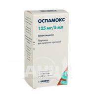 Оспамокс порошок для оральної суспензії 125 мг/5 мл флакон 5,1 г 60 мл