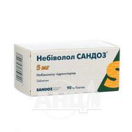 Небиволол Сандоз таблетки 5 мг блистер №90