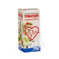 Трикардин серцеві краплі флакон 25 мл