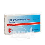Цинаризин Софарма таблетки 25 мг блістер №50