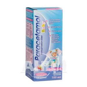 Парацетамол Бебі суспензія оральна 120 мг/5 мл флакон 100 мл