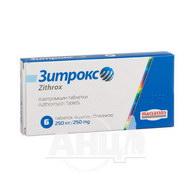 Зитрокс таблетки вкриті оболонкою 250 мг №6