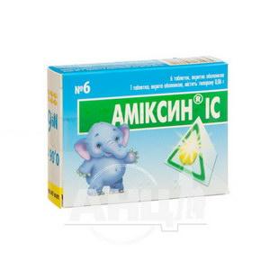 Аміксин ІС таблетки вкриті оболонкою 0,06 г блістер №6