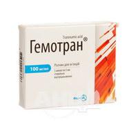 Гемотран розчин для ін'єкцій 100 мг/мл ампула 5 мл №5