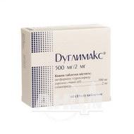 Дуглимакс таблетки 500 мг + 2 мг блістер №60