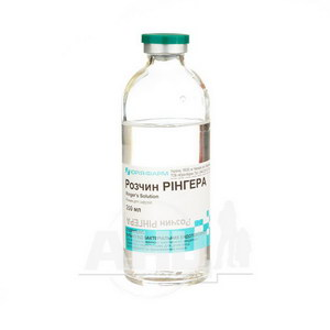 Розчин Рінгера розчин для інфузій пляшка скляна 200 мл