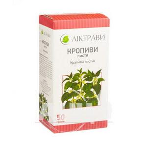 Кропиви листя пачка з внутрішним пакетом 50 г