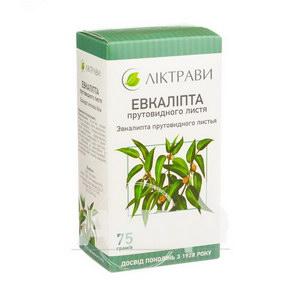 Евкаліпта прутовидного листя пачка з внутрішним пакетом 75 г