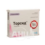 Торсид розчин для ін'єкцій 5 мг/мл ампула 4 мл №5