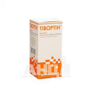 Тівортін розчин для інфузій 4,2% пляшка 100 мл №1