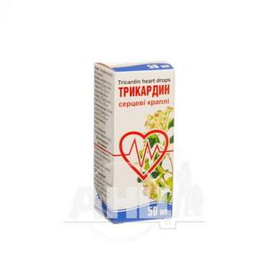 Трикардин серцеві краплі флакон 50 мл
