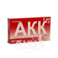 Акк (аминокапроновая кислота) раствор 50 мг/мл контейнер 2 мл №10