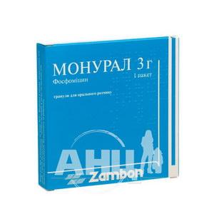 Монурал гранулы для орального раствора 3 г пакет №1
