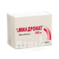Мілдронат капсули тверді 500 мг блістер №60