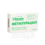 Метилурацил суппозитории ректальные 0,5 г блистер №10