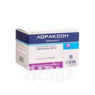 Лораксон порошок для раствора для инъекций 1000 мг флакон №12