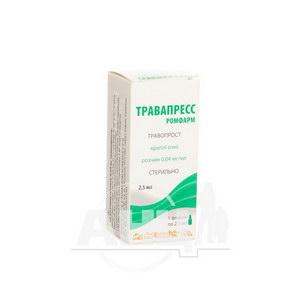 Травапресс Ромфарм краплі очні розчин 0,04 мг/мл флакон 2,5 мл
