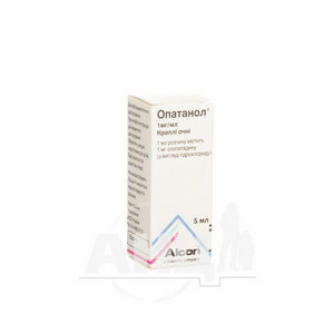 Опатанол краплі очні 1 мг/мл флакон-крапельниця дроп-тейнер 5 мл