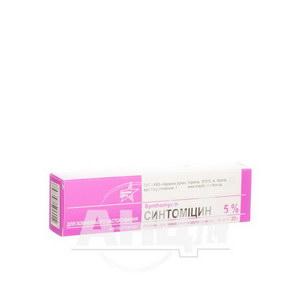 Синтоміцин лінімент для зовнішнього застосування 5 % туба 25 г