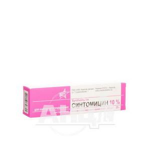 Синтоміцин лінімент для зовнішнього застосування 10 % туба 25 г