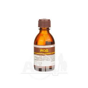 Йод розчин спиртовий для зовнішнього застосування 5 % флакон 20 мл