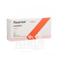 Луцетам таблетки вкриті оболонкою 1200 мг флакон №20