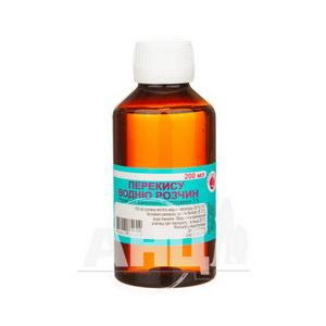 Перекису водню розчин для зовнішнього застосування 3 % флакон полімерний 200 мл