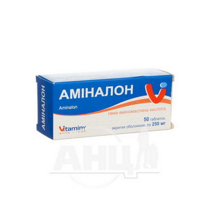 Аміналон таблетки вкриті оболонкою 0,25 г контейнер №50