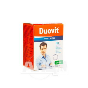 Дуовіт таблетки 1,06 г для чоловіків №30