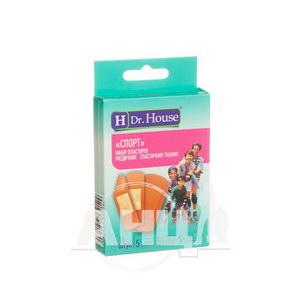 Набор пластырей медицинских Dr. House спорт эластичных тканевых №15