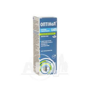 Оптінол краплі очні 0,40 % 10 мл