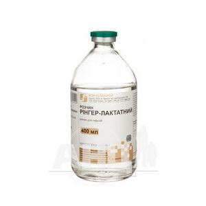 Раствор Рингер-лактатный раствор для инфузий бутылка 400 мл