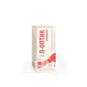 Л-оптик Ромфарм капли глазные раствор флакон 5 мг/мл