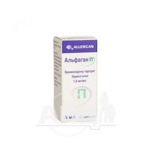 Альфаган П краплі очні 1,5 мг/мл флакон-крапельниця 5 мл