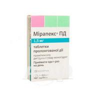 Мірапекс ПД таблетки пролонгованої дії 1,5 мг блістер №30