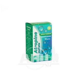 Атропіну сульфат краплі очні 10 мг/мл флакон 5 мл