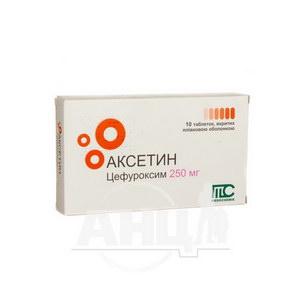 Аксетин таблетки покрытые пленочной оболочкой 250 мг стрип №10