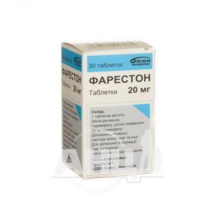 Фарестон таблетки 20 мг флакон №30