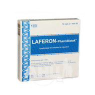 Лаферон-Фармбіотек ліофілізований порошок для розчину для ін'єкцій 1000000 МО флакон №10
