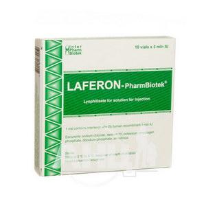 Лаферон-ФармБіотек ліофілізований порошок для розчину для ін'єкцій 3000000 МО флакон №10