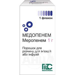 Медопенем порошок для раствора для инъекций флакон 1000 мг