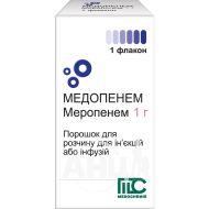 Медопенем порошок для розчину для ін'єкцій флакон 1000 мг