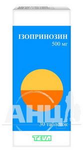 Ізопринозин таблетки 500 мг №20