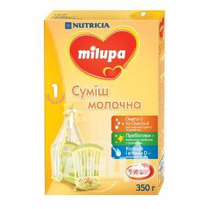 Суміш молочна суха Milupa 1 для дітей від 0 до 6 місяців 350 г