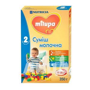 Суміш молочна суха Milupa 2 для дітей від 6 до 12 місяців 350 г