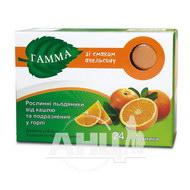 Гамма рослинні льодяники від кашлю та подразнення у горлі зі смаком апельсину №24
