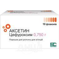 Аксетин порошок для розчину для ін'єкцій 0,75 г флакон №10