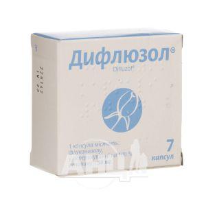 Дифлюзол капсули 50 мг блістер №7
