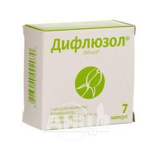 Дифлюзол капсули 100 мг блістер №7